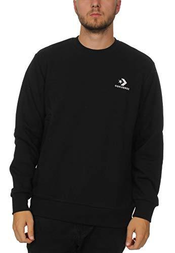 Converse Herren Sweatshirt Star Chevron Emb Crew, Schwarz (Black 001), Medium