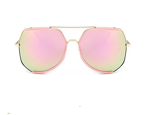 DaoRier Elegant Mode Frauen Runde Grenze Sonnenbrille Polarisiert UV-Schutz Damen Rahmen Schutzbrillen Brillen Widerstehen der Sonne
