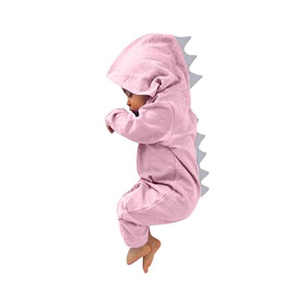 MAYOGO Body Bebé Dinosaurio Trajes con Capucha Mameluco Niño Recién Nacido Invierno Bodis Manga Largo Niña Bebe Disfraz… 1