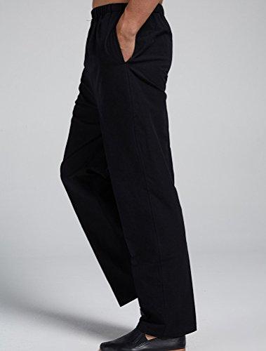 MatchLife Herren Casual Hose Baumwolle Kurze Hose Style3-Schwarz