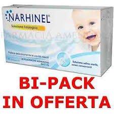 Narhinel soluzione fisiologica bipack 40 fiale