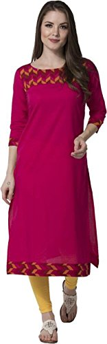 M&D 3/4 Sleeve Casual Printed Cotton woman's Kurti