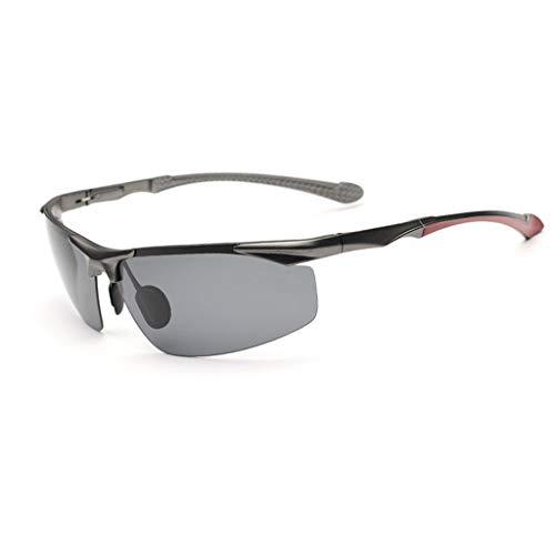 Jinxiaobei Herren Sonnenbrillen Superleichtes RahmendesignPolarisierte Sonnenbrille Sport Polarisierte Sonnenbrille for Herren Damen Polarisierte UV400 Sport Sonnenbrille (Color : Gray)