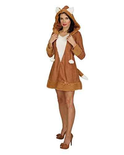 Lady Kostüm Foxy - Horror-Shop Foxy Lady Kleid mit Kapuze M/L (40/42)