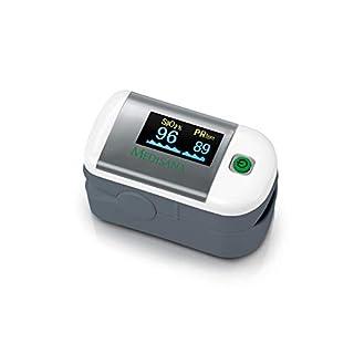 Medisana PM 100, Pulsoximeter, Messung der Sauerstoffsättigung im Blut, Fingerpulsoxymeter mit OLED-Display und One-Touch Bedienung