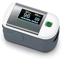 Medisana PM100 79455, Pulsioxímetro para medir la saturación de oxígeno en la sangre, la frecuencia cardíaca, oxímetro con pantalla OLED y simple operación de un solo toque