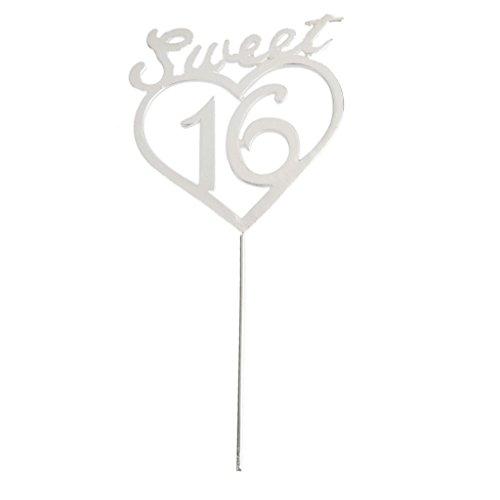 (16. Alles Gute Zum Geburtstag sweet 16 Kuchenteller Topper Kuchen Stecken Oben Dekoration)