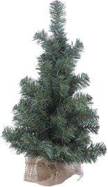 Weihnachtsbaum Tannenbaum künstlich mit Standfuß mit Sackleinen bezogen, Höhe 45cm, Ø 25cm