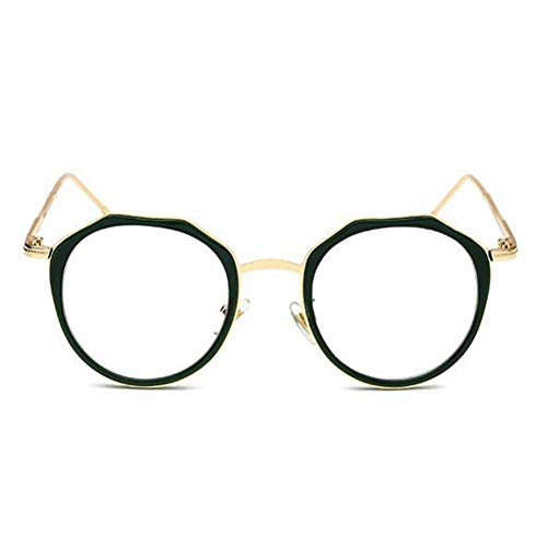BFLHBBF Spiegeln Retro Runde Metallrahmen Gläser Filter Blue Light Brille Anti-Strahlung Optische Gläser Für Frauen Und Männer Computer Brillen