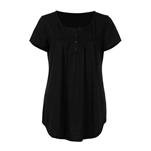 KIMODO T Shirt Bluse Damen Sommer Kurzarm Top Unregelmäßige Lose Blusen Schwarz Blau Grau Mode 2018 - 3