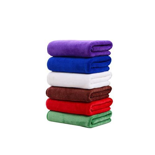 OUNONA - 5 Toallas Suaves de Microfibra para el Cabello seco, Muy absorbentes con Agua, para Deportes, Yoga, Gimnasio, Fitness