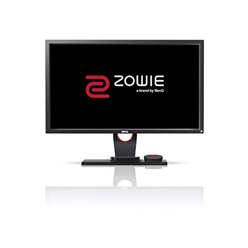 BenQ ZOWIE XL2430 - Monitor de 24' (144Hz para e-Sport, 1ms, Black eQualizer, Altura y Rotacion Ajustable) Color Vibrance, Gris Oscuro y Rojo