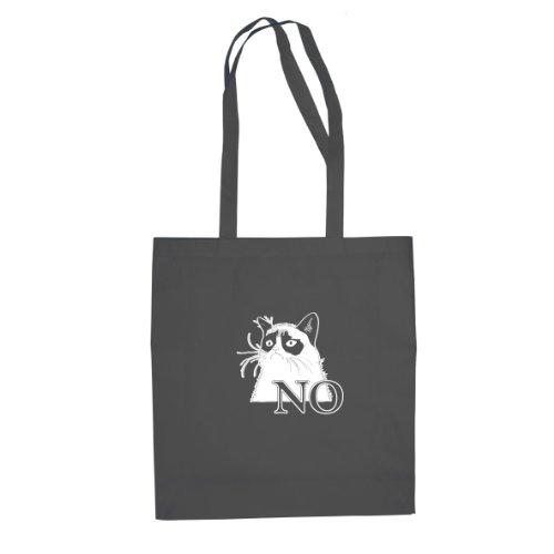 Grantige Katze - Stofftasche / Beutel Grau