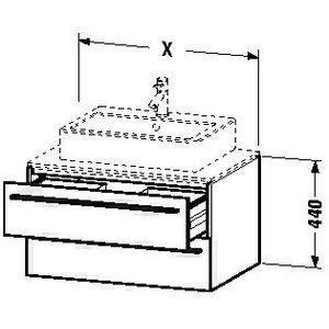 Hickory 2 Schublade (Duravit x-large Waschtisch Unterbau 1000x 548Amerikanisches Hickory 2Schubladen)