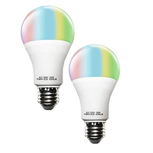 CXY® Lampadina WiFi Smart LED (Equivalente 80W) , Lampadina LED Smart Wi-Fi di ALTA QUALITÀ con dimmerazione, Lampada a colori a lampada A21 funziona con Alexa e Google Home di Amazon, Cambiare colore RGBW, controllato utilizzando dispositivi iOS / Android, senza hub