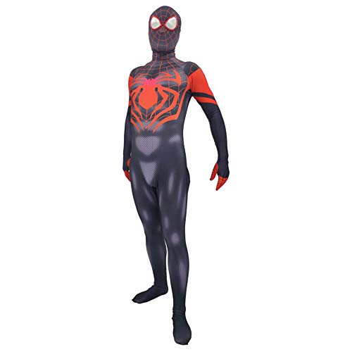 Hope Spider-Man Parallel Universum Miles Morales Kostüm Onesie Erwachsene Männer Frauen Cosplay Kostüme Kostüm Für Rollenspiele,A-XXXL