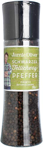 """Jamie Oliver Gewürzmühle groß \""""Black Pepper\"""" 180g"""
