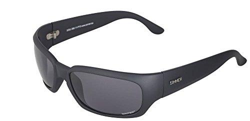 SINNER Erwachsene Sonnenbrille Eastend Polycarbonat Sintec Polarisiert, Matt Schwarz, SISU-386-11-P10 -