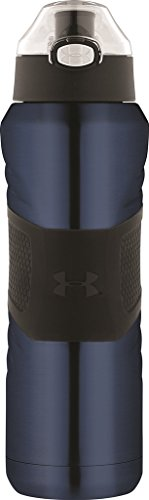 Under Armour Dominate 24 Ounce Vacuum Insulated Stainless Steel Bottle with Flip Top Lid, Royal Blue (Armour Media Under)