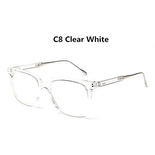 YMTP Gafas Ópticas Cuadradas De Gran Tamaño Retro