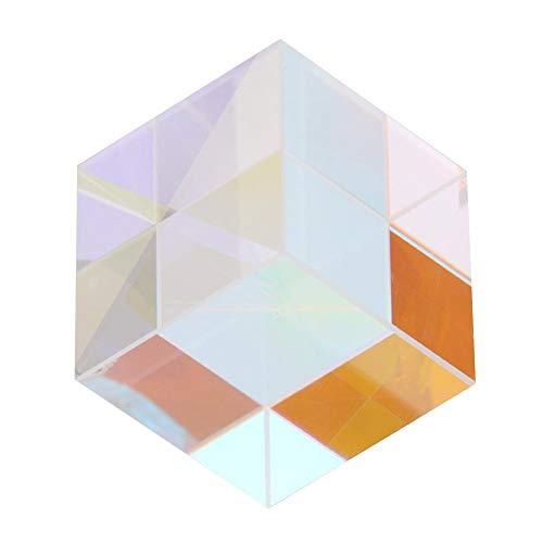 Walfront Glasmalerei C-ube Sechsseitiges Helles Licht Prisma Strahlteilungsprisma Zum Lehren Oder Forschen kombinieren(1.27 * 1.27 * 1.27cm) - 2 Würfel Pfund