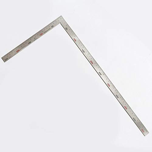 Stainless Steel 90 Degree Square Layout Tool L-Shaped Dual Angle Side Metric Ruler For Rafters Doors Stair Layouts - Tool Steel Square