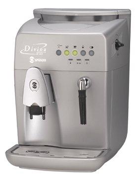 Spidem Divina DeLuxe Kaffee-/Espressoautomat silber metallisé