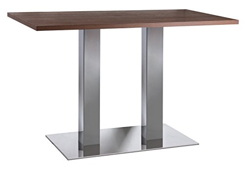 Tischgestell Tischsäule 2-Säulen H 710 mm Edelstahl / Chrom