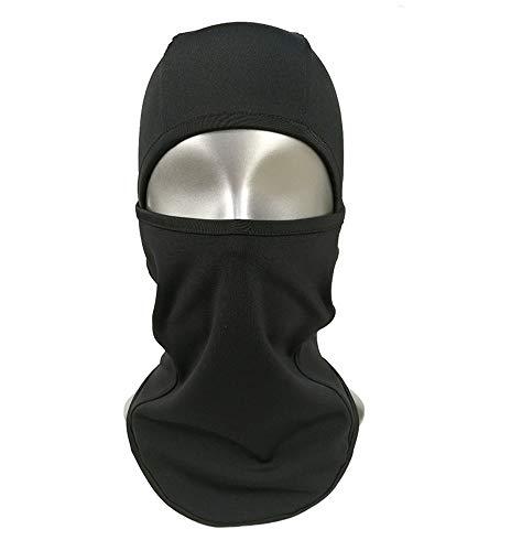 CNWYAN Outdoor-Sportmaske, Einfarbiges Stretch-Fleece, Reitmaske, Schwarz - Elasthan Stretch-fleece-stirnband