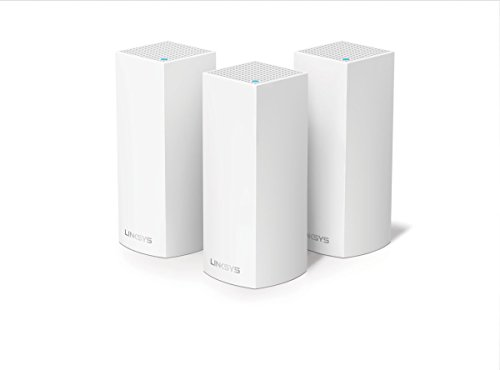 Linksys Velop WHW0303-EU - Sistema Wi-Fi en malla para todo el hogar (paquete de tres nodos, tribanda, instalación guiada, modular, gestión de red por aplicación), color blanco