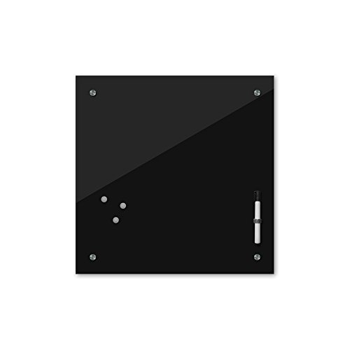 Bilderdepot24 Memoboard 40 x 40 cm, 24 Farben - schwarz - Glas - Glasboard - Glastafel - Magnetwand - Pinnwand - Mehrzwecktafel Farbton - Grundfarbe - einfarbige Schreibtafel
