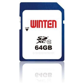 Winten tarjeta SDXC, 64GB, Clase 10, garantía de por vida!