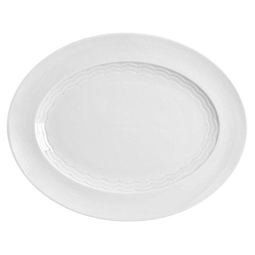 Seltmann Weiden 001.729591 Marina Plateau – Porcelaine – Blanc – Ovale – Ø 33 cm