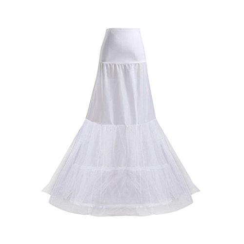VENI MASEE Damen 2 Hoops Fishtail Mermaid Hochzeitssuite Rock Wedding Underskirt Krinoline Petticoat Partei/Prom/Konzert/Hochzeit Geschenk