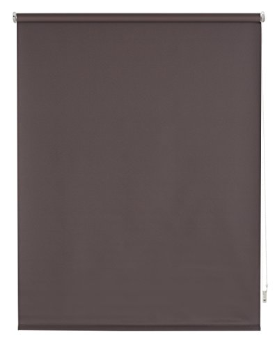 Blindecor b100-tenda a pacchetto tipo blackout in voile, tinta unita 120 x 175 cm grigio