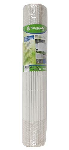 Floraworld 011520 Sichtschutz/Balkonverkleidung Comfort, Weiß, 300 x 1 x 90 cm