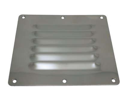 AISI 316 Marine Grade Stainless Steel Boat Caravan Louvered Vent 127mm X 115mm Test
