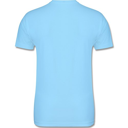 Evolution - Bodybuilder Evolution - Herren Premium T-Shirt Hellblau
