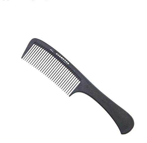 YANFAMING Peigne à Cheveux - Peigne Large et à Dents Larges Peigne à Fibres de Carbone Antistatique - pour Cheveux épais, épais ou mouillés, Lisses, ondulés et ondulés