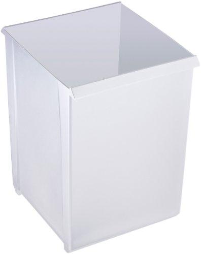 Helit H6104595 Papierkorb quadratisch mit Griffrand