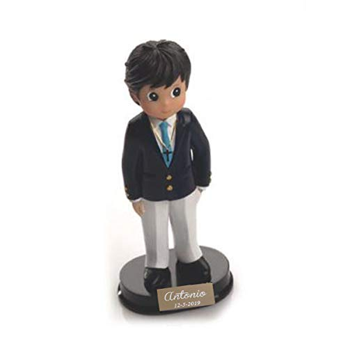 Figura para tarta de comunion Niño con chaqueta Tamaño 14 cm