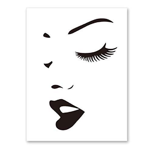 AALHJJ Sport Werbung Augen Poster Und Drucke Leinwand Malerei Mädchen Wandbild Für Schlafzimmer Wandkunst Wandmalereien Wohnkultur A -