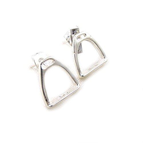 925-sterling-silver-horse-stirrup-stud-equestrian-earrings