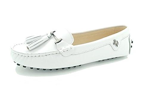 Miyoopark , Ballet femme - Blanc - Smooth Leather-White, 39.5