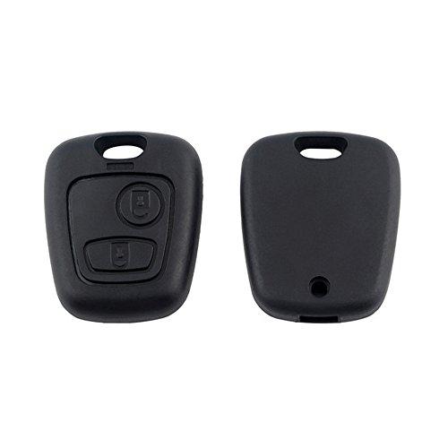 Nicedier-Tech Guscio chiave 2-buttons chiave caso Fob per Peugeot, Citroen C1/C2/C3/C4/C5