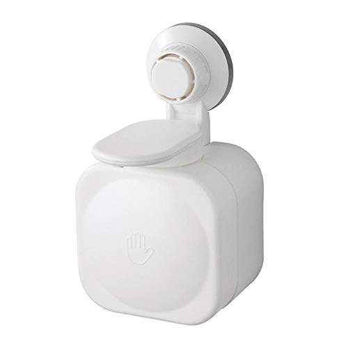 Henreal Seifenschale, wasserfest, zur Befestigung an der Wand aus ABS, Seifenspender, Saugnapf, für Badezimmer zu Hause weiß