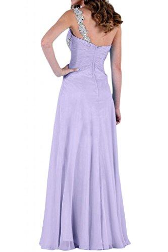 Stile Glamour TOSKANA sposa un-spalla stanotte vestimento per damigella Party Ball Bete vestimento Lilla