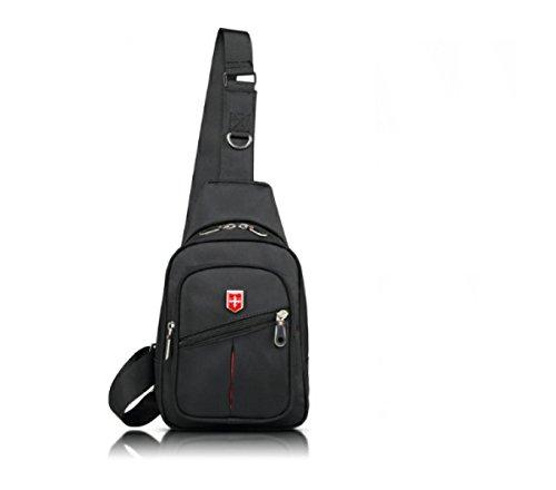 BULAGE Taschen Lässig Brustbeutel Kultur Männer Outdoor Sport Diagonales Paket Meine Damen Computer Mode Natur Ausgehen Einkaufen Black