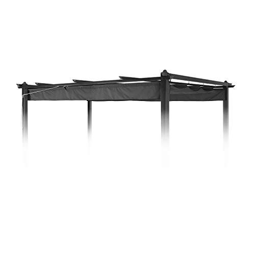 Blumfeldt pantheon roof • tetto di ricambio • tettuccio apribile • accessorio per pergola pantheon • dimensioni: 3 x 4 m • materiale: poliestere 180 g/m² • grigio