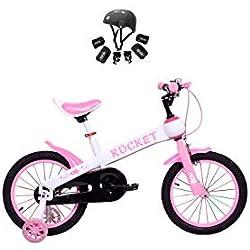 Bicicleta Infantil Modelo Rocket con Ruedas de 12'' Color Rosa